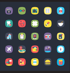 App colored icons set vector