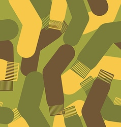 Army pattern of socks Military texture camouflage vector