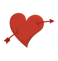 Arrow heart love design vector