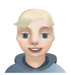 avatar boy face smiling vector image