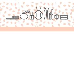 Beauty makeup accessories header banner flyer vector