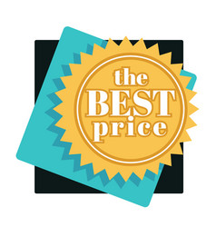 best price tag isolated icon shopping sale or vector image