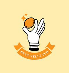 best selected fresh egg logo vector image