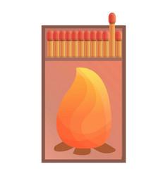 Box matches icon cartoon style vector
