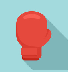boxing glove icon flat style vector image