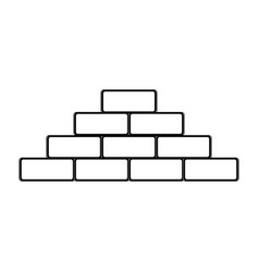 Bricks icon image vector