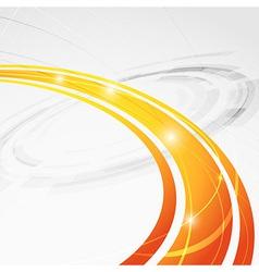 Bright orange wave folder abstraction vector