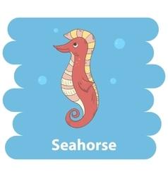Cartoon cute seahorse vector
