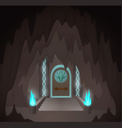 cartoon mystic gates vector image