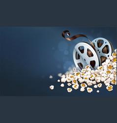 cinematograpy film-reel discs vector image