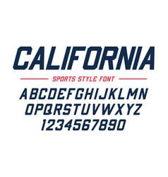 classic college font vintage sport sans serif vector image