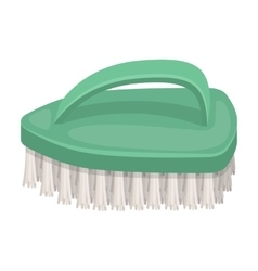 Cleaning brush icon in cartoon style isolated on vector image