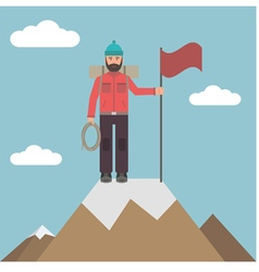 Climber on top vector