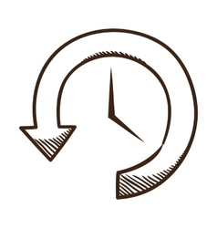 Clock and arrow vector image