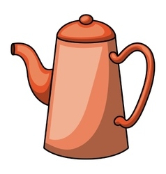 coffee kettle cartoon design vector image