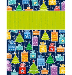 color background with christmas elements vector image