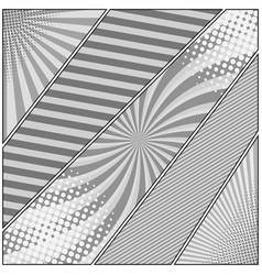 comic book page monochrome diagonal concept vector image