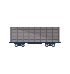 commercial railway cargo wagon icon vector image