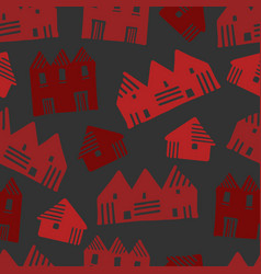 cute pattern in scandinavian style with decorative vector image