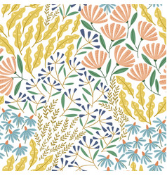 cute spring seamless pattern vector image