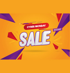 cyber monday abstract sale background vector image