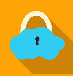 Data cloud security icon in flat style isolated on vector