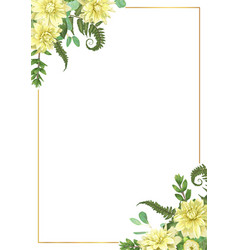 decorative golden rectangular frame with vector image