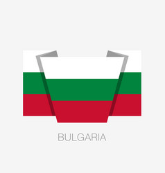 Flag of bulgaria flat icon waving flag with vector