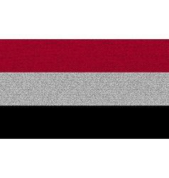 Flags yemen on denim texture vector