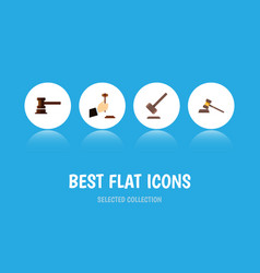 flat icon court set of court government building vector image
