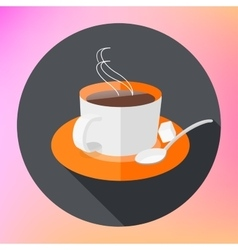Flat Icon Cup of tea icon vector image