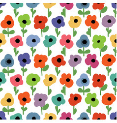 floral seamless pattern small colorful flowers vector image
