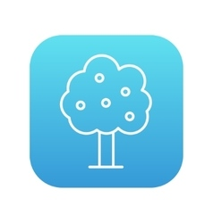 Fruit tree line icon vector image