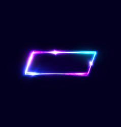 geometric neon banner on dark background vector image