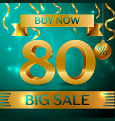 Gold big sale eighty percent for discount vector