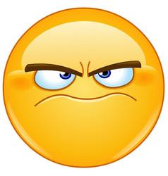 Grumpy emoticon vector