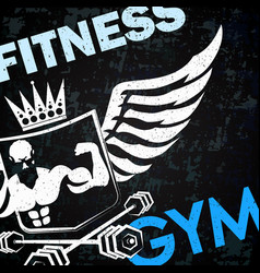 gym training symbol vector image