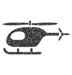 Helicopter Icon Rubber Stamp vector