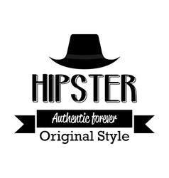 Hipster icon vector image