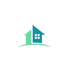 house icon abstract logo vector image