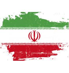 Iran scratched flag vector