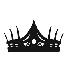 Isolated crown silhouette vector
