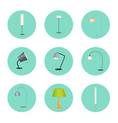 lapms circle icons collection vector image