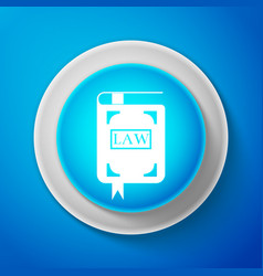 law book icon legal judge book judgment concept vector image