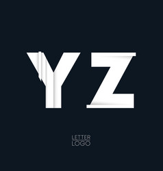 letter y and z template logo design vector image