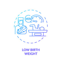 Low birthweight concept icon vector