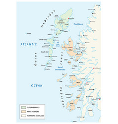 map scottish archipelago hebrides at north vector image
