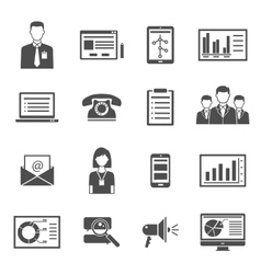 Marketing Black Icons vector image
