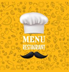 menu restaurant vector image