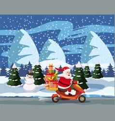 merry christmas and happy new year happy santa vector image